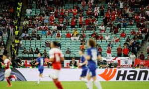 Empty seats at the Europa League final in Baku.