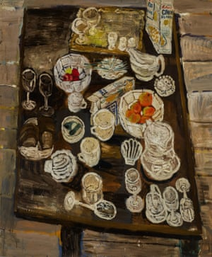 Still Life With Oranges, 1954, Bratby
