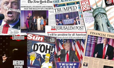 Newspaper front pages cover aftermath of Trump's victory – in pictures