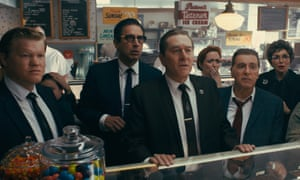 Martin Scorsese's The Irishman, with Jesse Plemons, Ray Romano, Robert De Niro and Al Pacino.