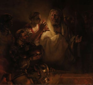 The Denial of St Peter, 1660, by Rembrandt.