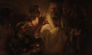 The Denial of St Peter, 1660, by Rembrandt