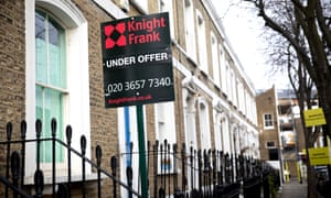 A houses for sale in north London, where prices continue to slide lower