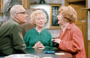 Arthur Leslie as Jack Walker, Doris Speed as Annie Walker and Jean Alexander as Hilda Ogden pictured together in the Rovers Return pub in 1967.