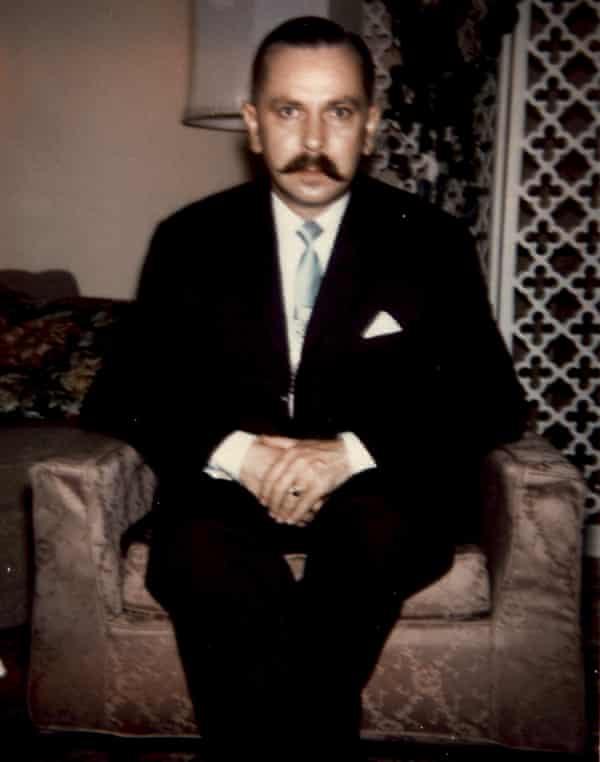 Michal Goleniewski in his Queens apartment, New York City, 1964.