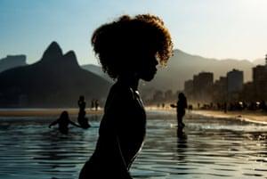 Silhouette of a child in Rio de Janeiro