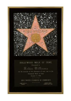 A Hollywood Walk Of Fame Star Award presented to Williams in 1990