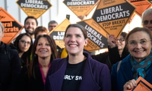 Liberal Democrat leader Jo Swinson campaigns in north London.