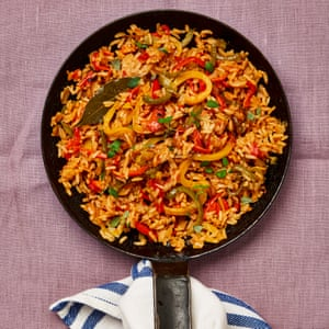 Taste of the Bayou: Meera Sodha's Creole rice with burnt peppers.