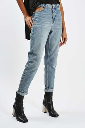 Topshops' cut-out pocket mom jeans
