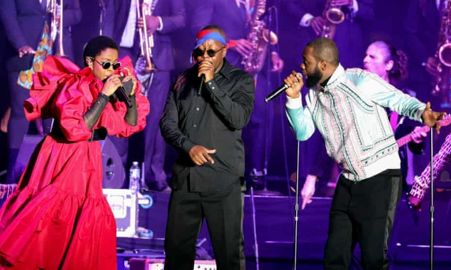 The reunited Fugees performed at Pier 17 in New York City in support of Global Citizen Live