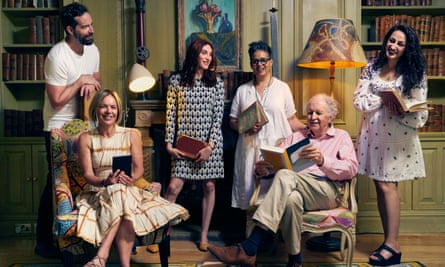 From left: Stig Abell, Mariella Frostrup, Juno Dawson, Kit de Waal, Alexander McCall Smith and Syima Aslam