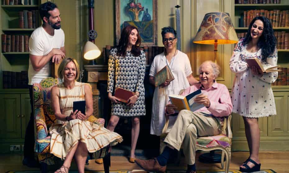 From left: Stig Abell, Mariella Frostrup, Juno Dawson, Kit de Waal, Alexander McCall Smith and Syima Aslam