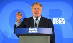 Boris Johnson launches his bid for Conservative party leader