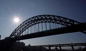 The Tyne Bridge in Newcastle.