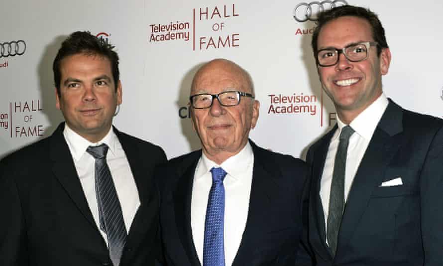 Lachlan, Rupert and James Murdoch