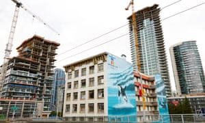 Property development in Yaletown, Vancouver.