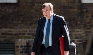 Former culture secretary John Whittingdale in Downing Street