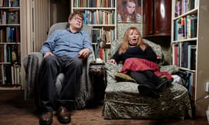 Sofas at the ready ... Giles and Mary from Gogglebox.