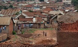 Local hero: Phiona Mutesi's neighbourhood in Kampala, Uganda.