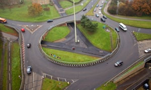Hidden in plain view: a wide, smooth cycleway beneath a roundabout in Stevenage. All photographs: Carlton Reid