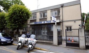 Police station in Aulnay-sous-Bois. One officer was charged with raping a 22-year-old man with a truncheon.