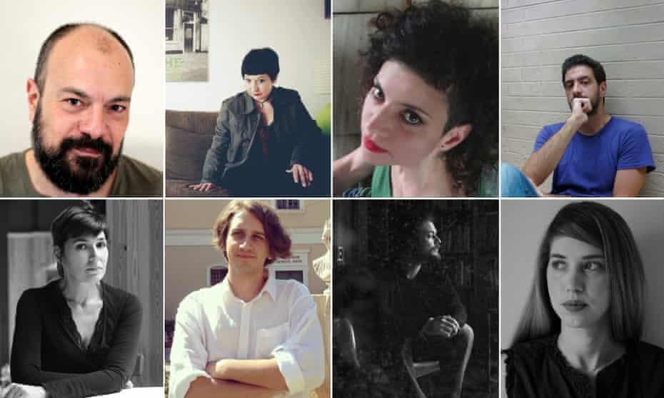Clockwise from top right: Yiannis Efthymiades, Glykeria Basdeki, Eftychia Panayiotou, Yannis Stiggas, Danae Sioziou, Thomas Tsalapatis, Yiannis Doukas and Elena Penga.