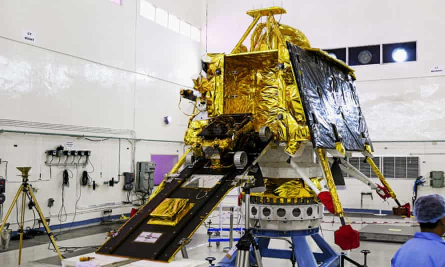 Part of India's three-spacecraft Chandrayaan 2 moon mission