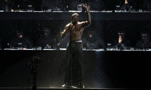'There's something enigmatic about blackness that, coupled with the illicit appeal of black culture, makes black people seem very cool by default' ... Stormzy, performing at the 2018 Brit Awards.