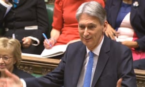 Philip Hammond delivers the budget in the House of Commons.