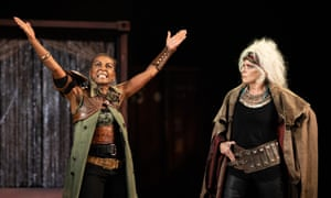 Adjoa Andoh and Suzanne Bertish in Troilus and Cressida.