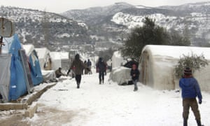 A refugee camp near the Turkish border in Idlib