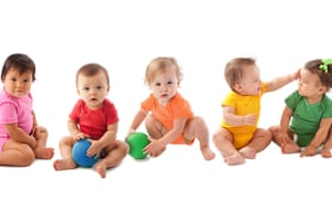 Diversity: Interracial Group of Babies Mixed Ethnicity