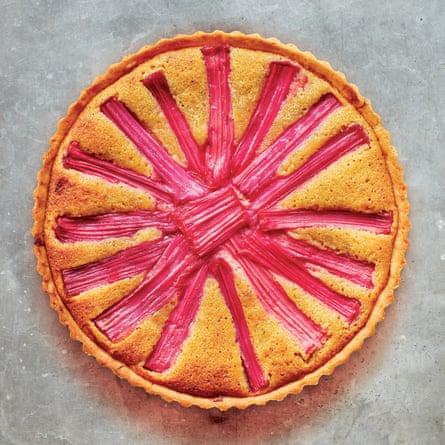 Tamal Ray's rhubarb frangipane tart.