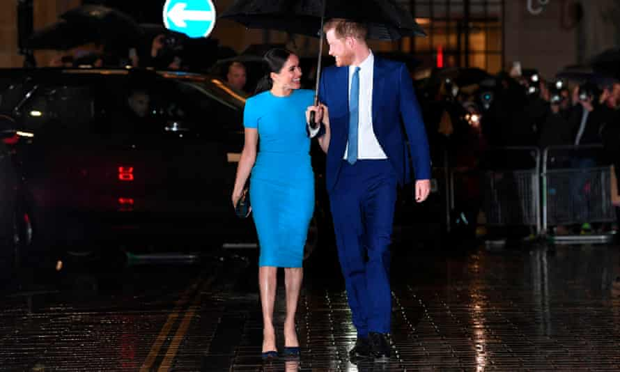 Prince Harry, Duke of Sussex and Meghan, Duchess of Sussex arrive at an awards night in London