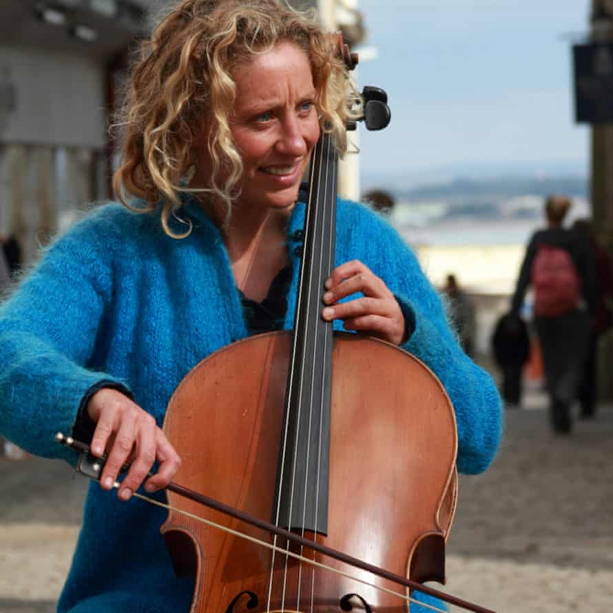 Catrina Davies playing here on the cello.