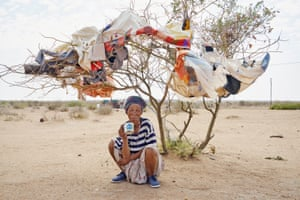 Margaret Courtney-Clarke's latest book When Tears Don't Matter portrays the lives of the remaining Bushmen in the Kalahari in eastern Namibia,