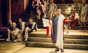 Richard McCabe as Cicero in Imperium Part I: Conspirator, at the Swan, Stratford-upon-Avon.