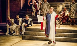 Richard McCabe as Cicero in the RSC's production of Imperium I: Conspirator.
