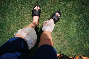 USA defender Kelley O'Hara's shot of her legs (and ice packs) at training camp