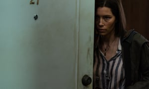 She's come too far, too severely bobbed to give up now ... Jessica Biel as Lia Haddock in Limetown.