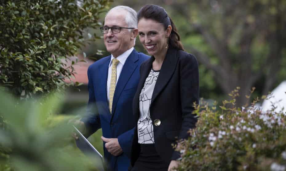New Zealand prime minister Jacinda Ardern arrives at Kirribilli House with Australian Prime Minister Malcom Turnbull