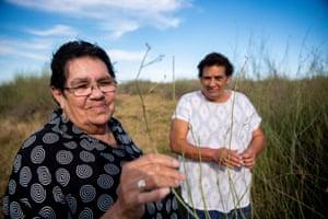 Mabel Fitzpatrick, Nari Nari Elder (left) and Kerrie Parker (right), Nari Nari Elders