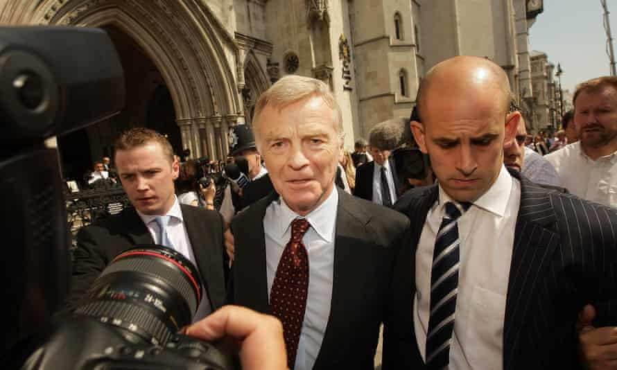Max Mosley leaves the high court