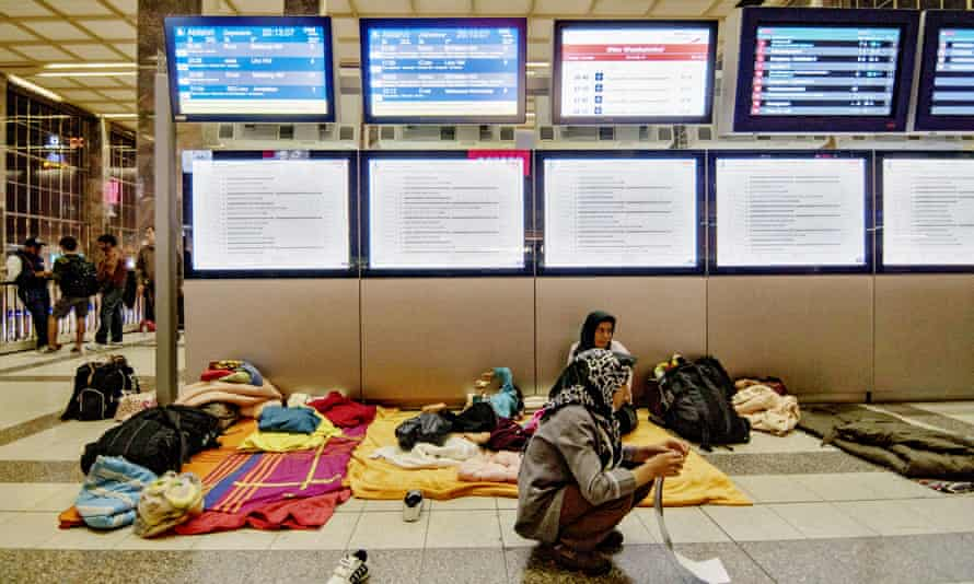 Refugees at Vienna's railway station in September 2015.