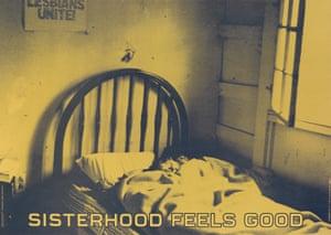 Sisterhood Feels Good by Donna Gottschalk. Offset lithograph poster, 1971