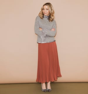 Jess Cartner-Morley in dressy polo neck and skirt