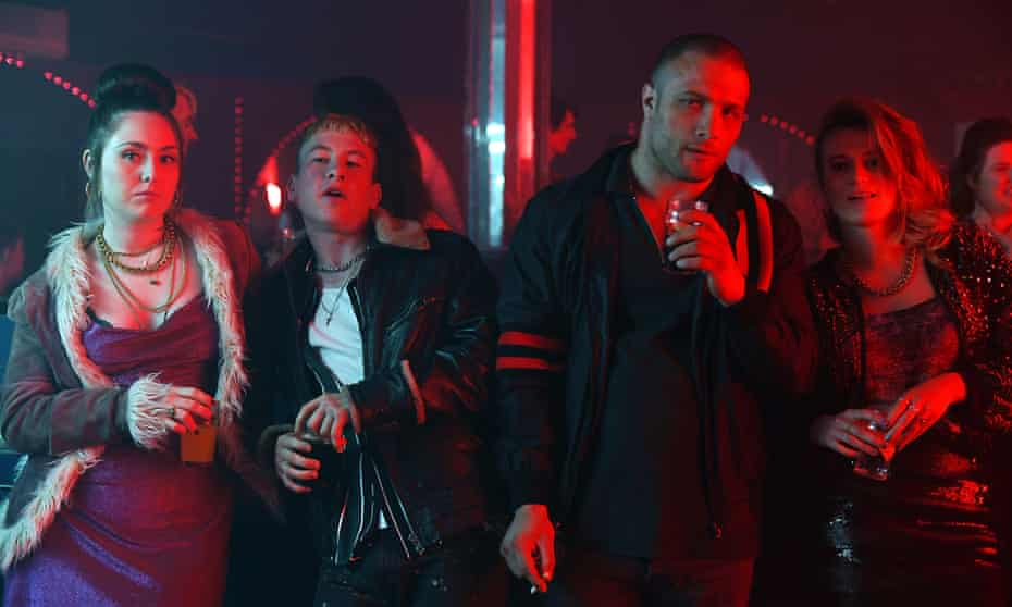 'Failed fathers and false families': (l-r) Roisin O'Neill, Barry Keoghan, Cosmo Jarvis and Toni O'Rourke in Calm With Horses