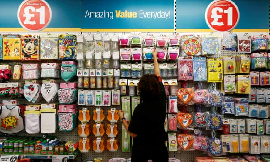 Poundland stores sell everything from washing powder to bags of sweets and batteries.