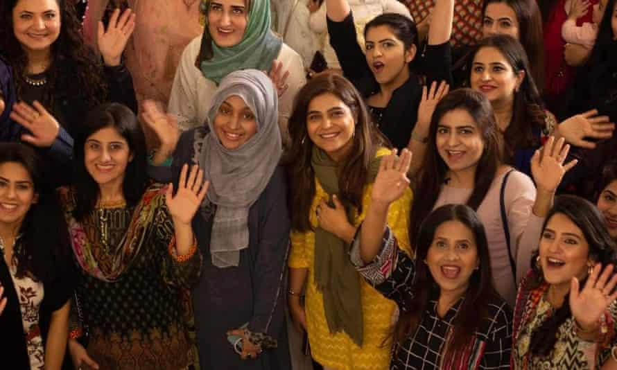 Ahmed with members of Civil Sisters Pakistan.